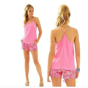 NWT Lilly Pulitzer Belle Tank Top/Cami Silk Small